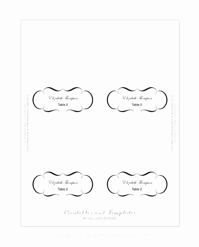 Place Cards Template 6 Per Sheet New 5 Kepner Tregoe Decision Analysis Template Siett