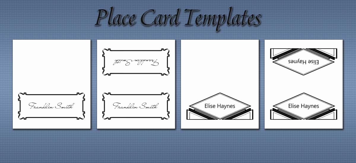 Place Cards Template 6 Per Sheet New Free Place Card Templates