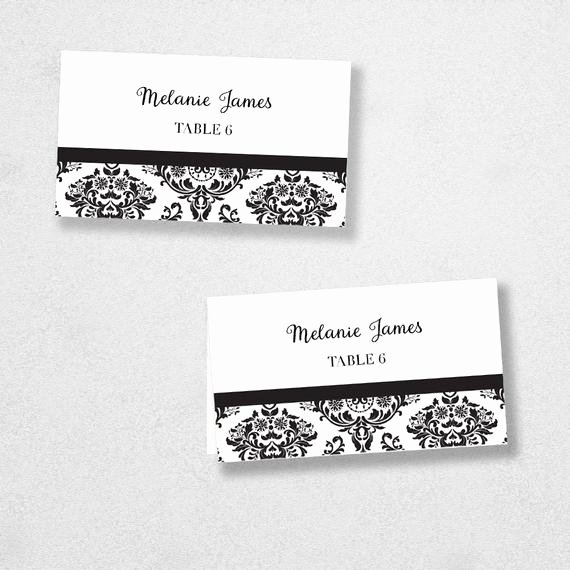 Place Cards Template 6 Per Sheet Unique Printable Place Card Template Instant Download Escort Card