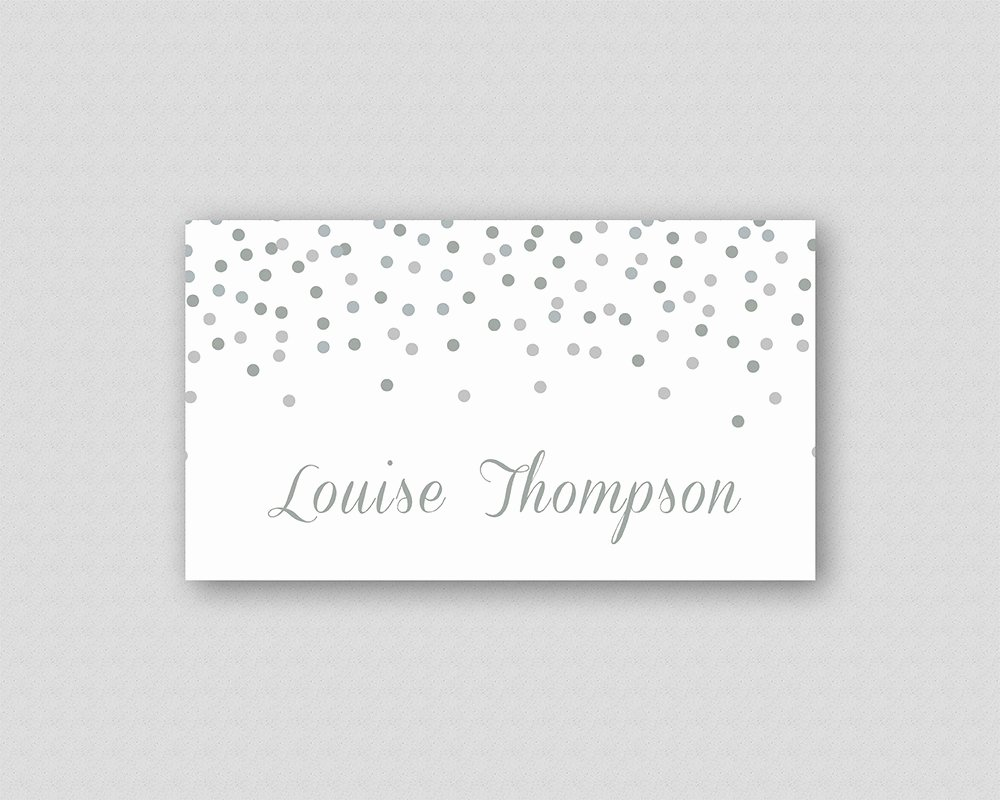 Place Cards Template 6 Per Sheet Unique Silver Glitter Place Card Template Diy Printable Wedding