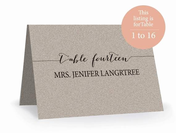 Place Cards Template 6 Per Sheet Unique Wedding Place Card Template Printable Editable Escort Word
