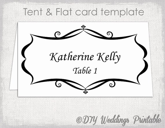 Place Cards Templates 6 Per Sheet Beautiful Place Card Template Tent and Flat Name Card Templates