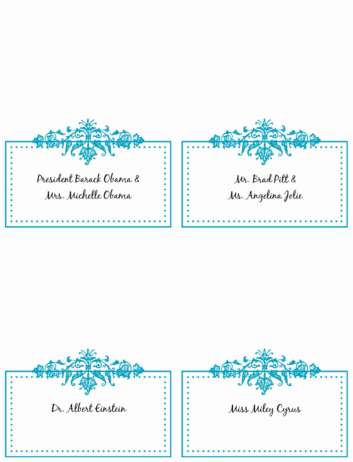 Place Cards Templates 6 Per Sheet Inspirational 9 Place Card Template Word 6 Per Sheet Puiwy