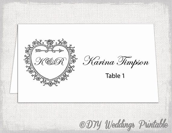 Place Cards Templates 6 Per Sheet Lovely Printable Place Card Template Tent Name Card Templates