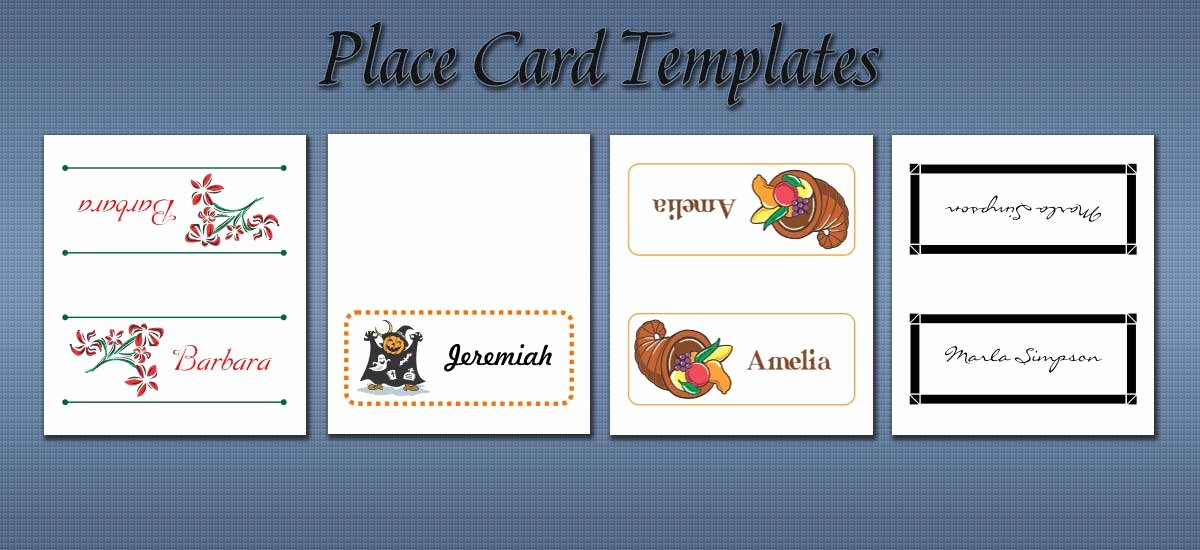 Place Cards Templates 6 Per Sheet New Free Place Card Templates