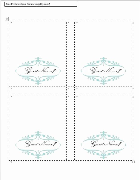 Place Cards Templates 6 Per Sheet Unique How to Make Your Own Place Cards for Free with Word and