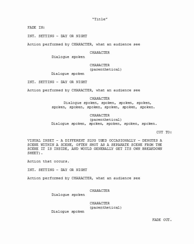 Play format Template New 37 Creative Screenplay Templates [& Screenplay format