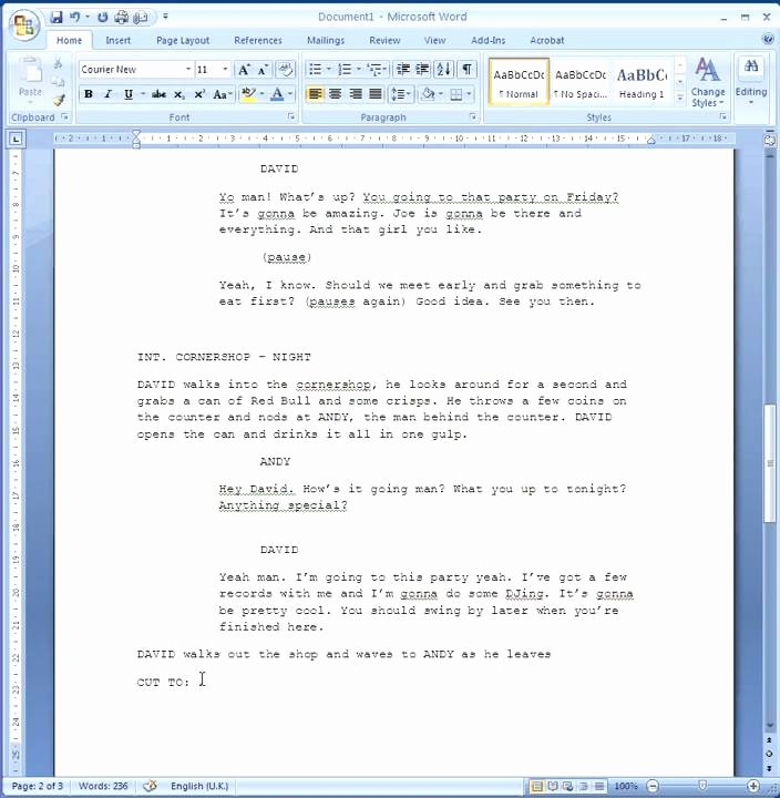 Play format Template New How to format Your Script
