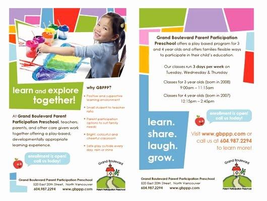 Play Program Templates Beautiful 19 Best Images About Preschool Flyer Design Ideas On