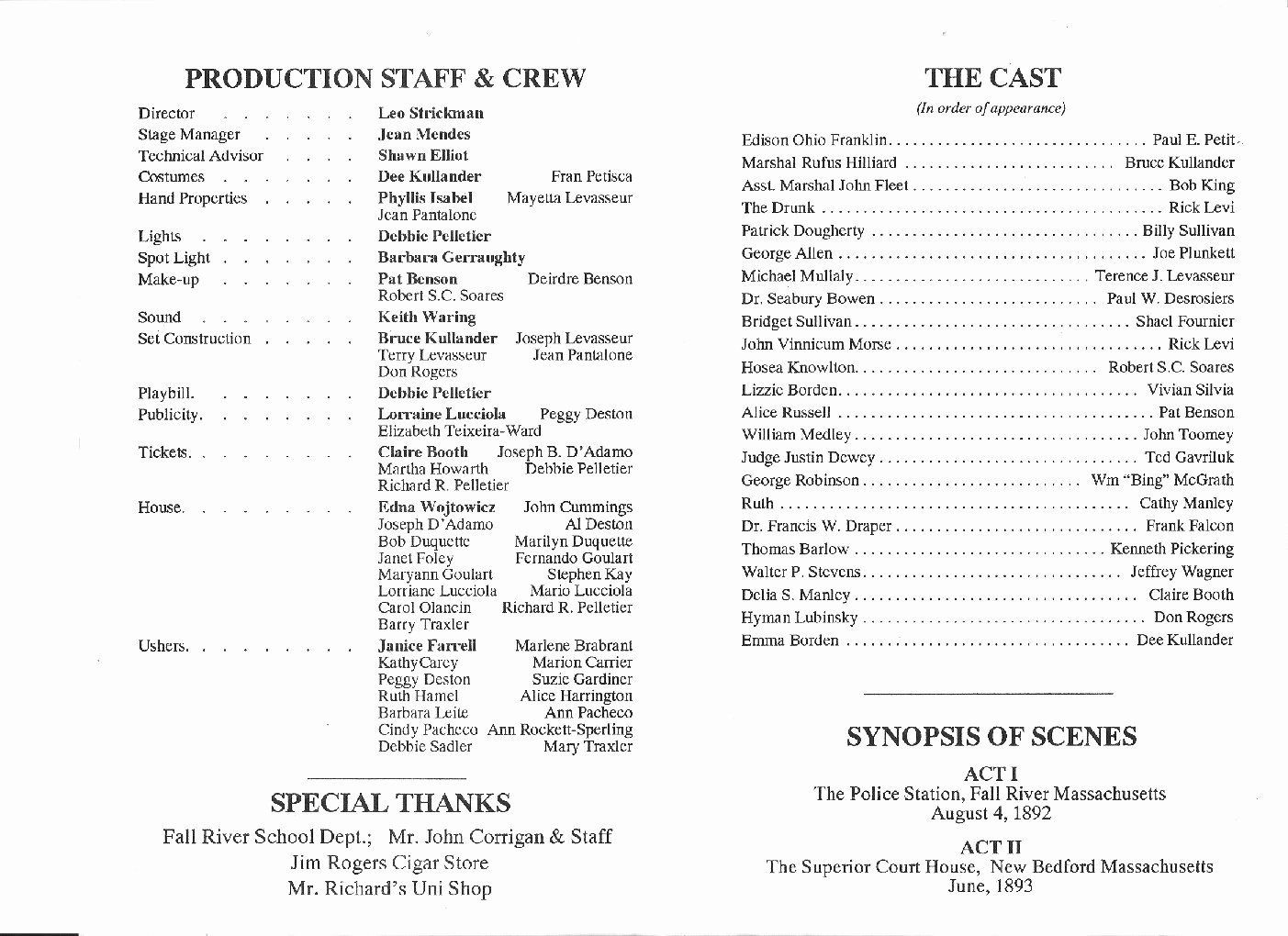 Playbill Bio Template Best Of Template for Playbill