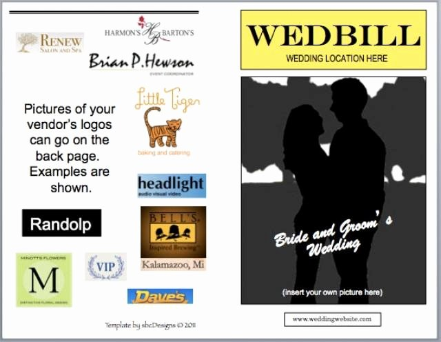 Playbill Bio Template Elegant Wedbill A Playbill Like Wedding Program Template