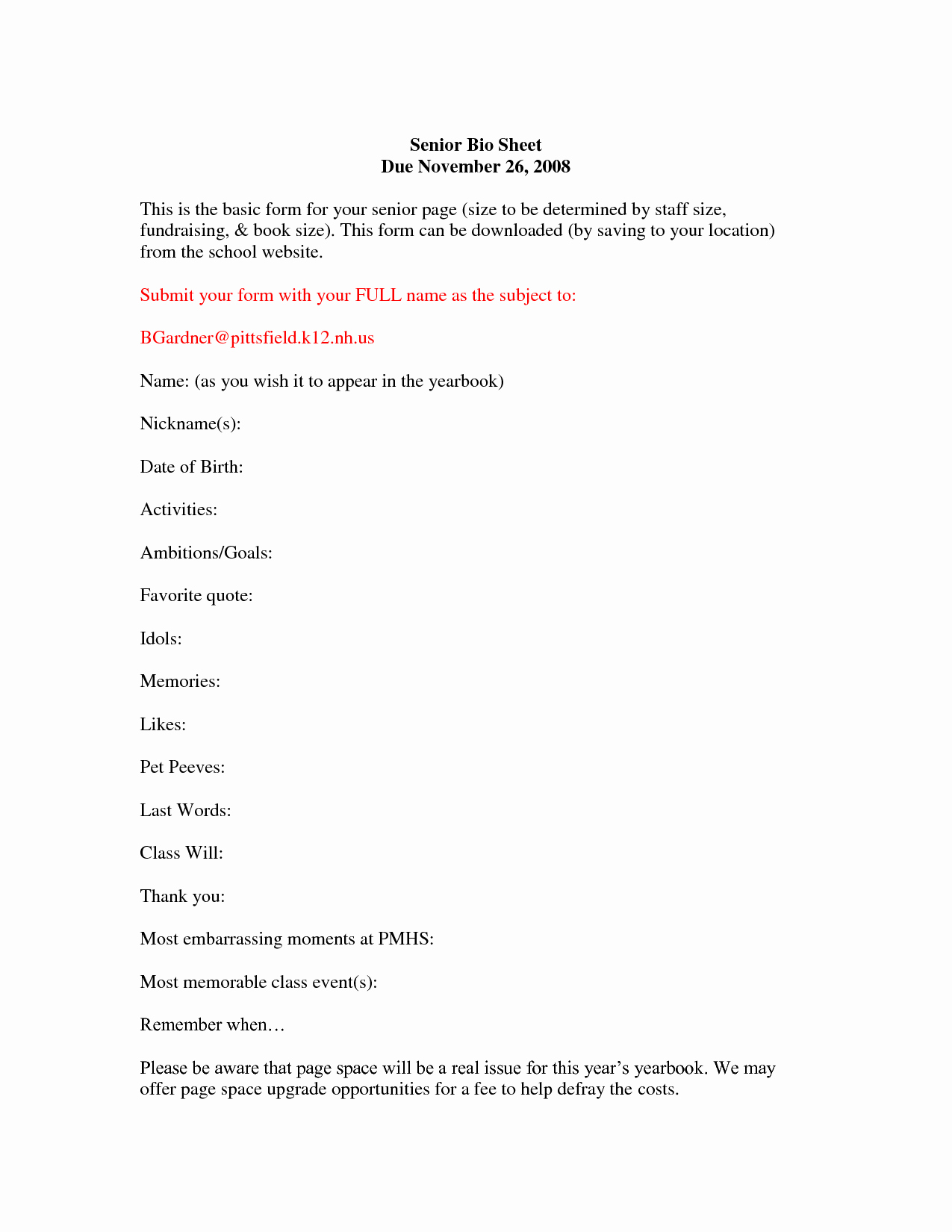 Playbill Bio Template Lovely Best S Of Bio Sheet Template for Resume Biography