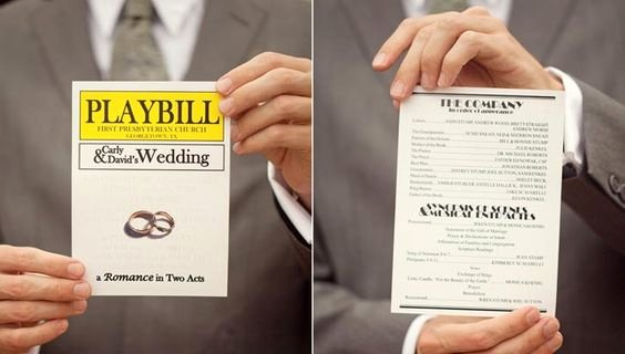 Playbill Cover Template Beautiful Playbill Wedding Template Broadway Pinterest