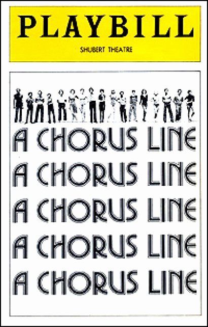 Playbill Cover Template Inspirational Playbill Archives A Chorus Line — 1975