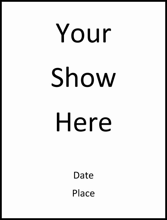 Playbill Cover Template Lovely An Easy Program Template for Your Show