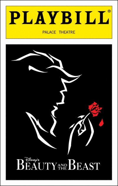 Playbill Cover Template Lovely Beauty and the Beast Broadway Palace theatre Tickets