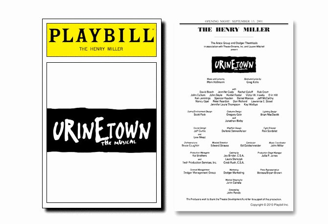 Playbill Cover Template Lovely Playbill Template Beepmunk