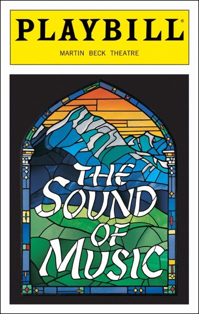 Playbill Cover Template Luxury the sound Of Music Broadway Martin Beck theatre