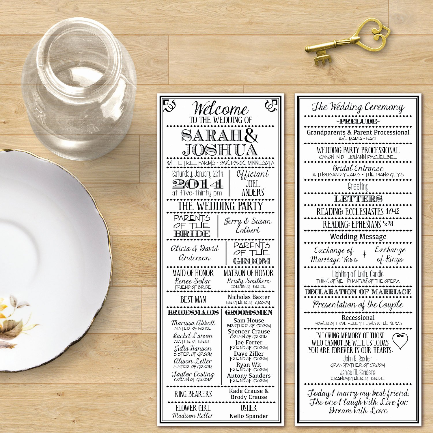 Playbill Template for Mac Beautiful Printable Digital Wedding Program Vintage Playbill theme