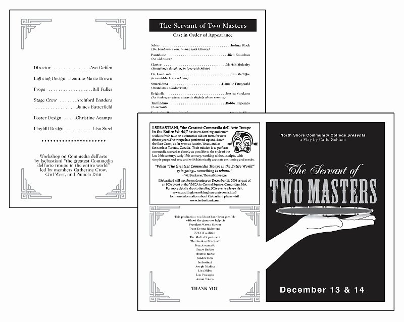 Playbill Template Free Beautiful Playbill Templates Entown Posters