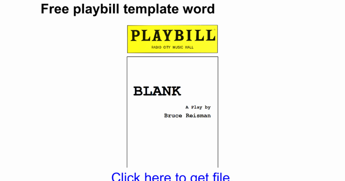 Playbill Template Free Inspirational Free Playbill Template Word Google Docs
