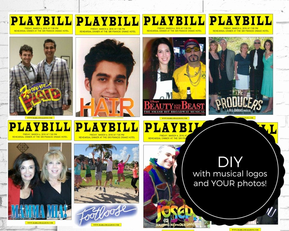Playbill Template Free Inspirational Playbill Broadway Centerpieces Diy Template with Your S
