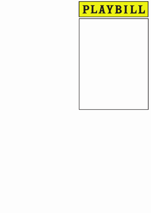 Playbill Template Free Lovely Playbill Template Printable Pdf