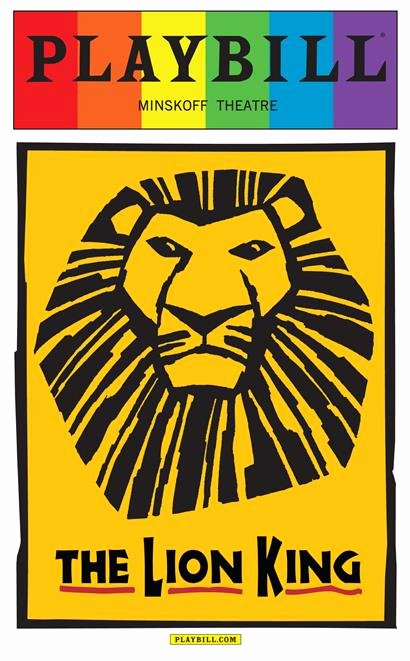 Playbill Template Free Lovely the Lion King the Musical June 2015 Playbill with