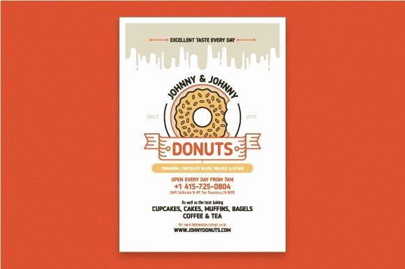 Playbill Template Photoshop Inspirational Donuts Poster Template Flyer Templates Creative Market