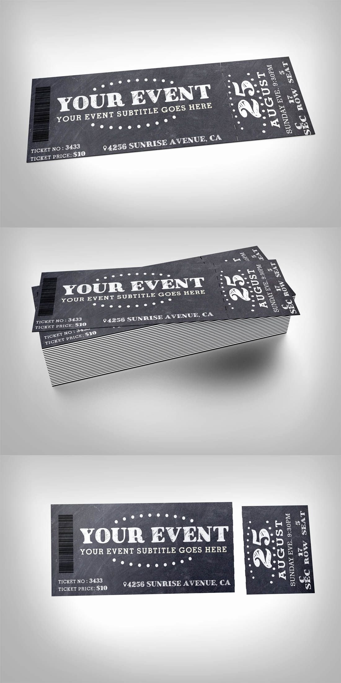 Playbill Template Photoshop Unique Pin by Best Graphic Design On Ticket Templates
