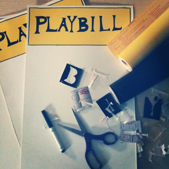 Playbill Template Word Awesome Crafts Other and Your Life On Pinterest