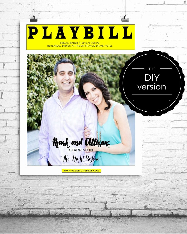 Playbill Template Word Fresh Playbill Broadway Poster or Centerpiece Template for Wedding