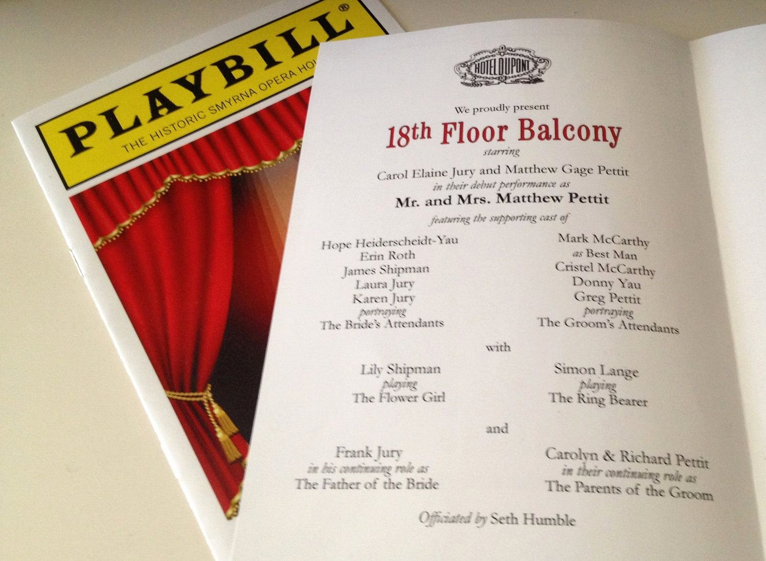 Playbill Template Word Luxury Playbill theater Wedding Program or Invitation 8 Page