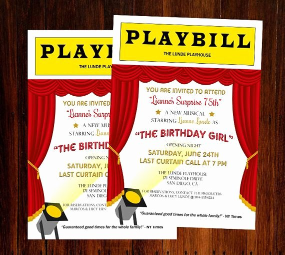 Playbill Templates Free Inspirational Best 25 Broadway theme Ideas On Pinterest