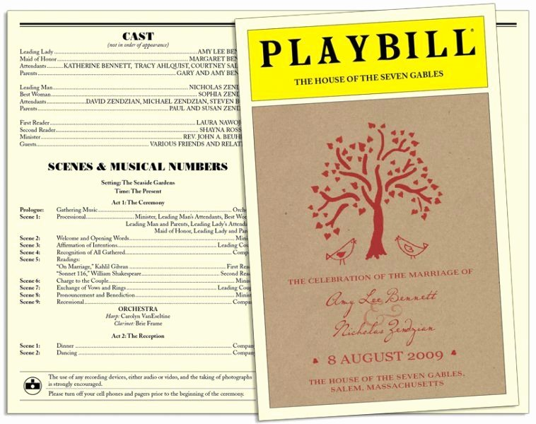 Playbill Templates Free Inspirational Playbill Style Invitations Invitation Templates
