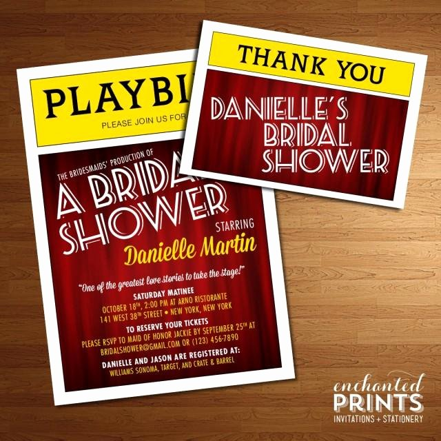 Playbill Templates Free Luxury Broadway Playbill Invitation theater themed Nyc