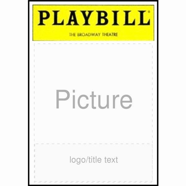 Playbill Templates Free Luxury Broadway Playbill Template Entown Posters