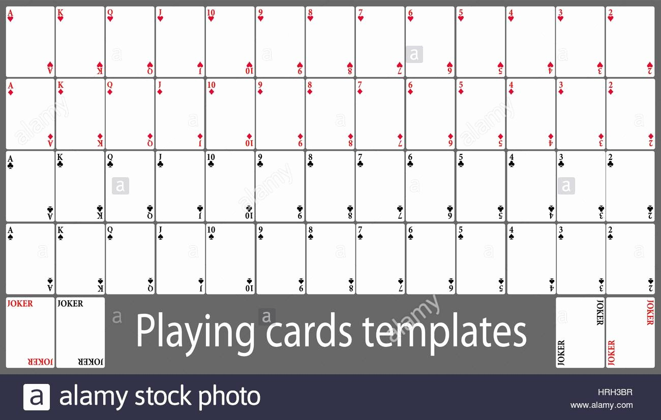 Playing Card Template Word Fresh Playing Cards Template – Emmamcintyrephotography