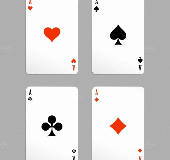 Playing Card Template Word Inspirational Ace Playing Cards Illustrations On Creative Market