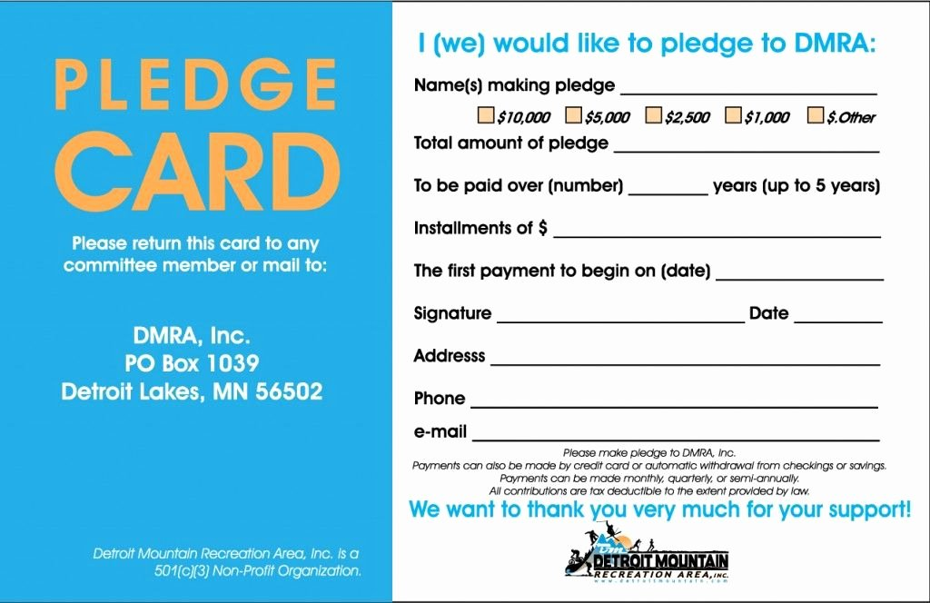 Pledge Card Template Word Beautiful Pin by andrew Martin On Pledge Cards