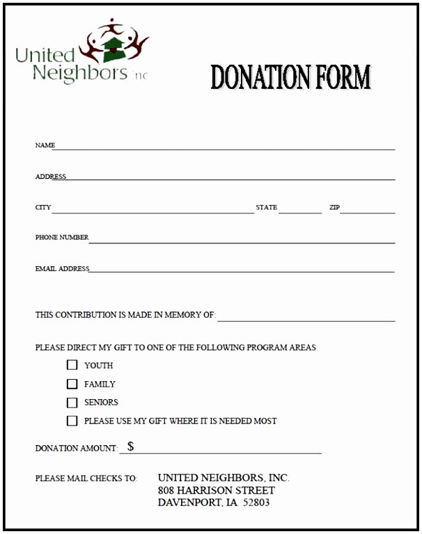 Pledge Card Template Word Fresh 9 Charity Pledge form Template Dtauw