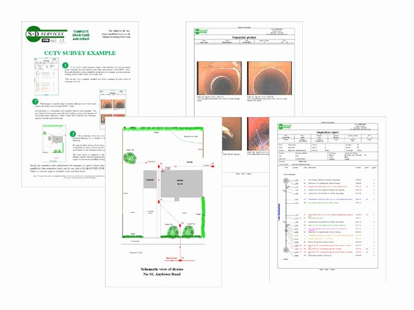 Plumbers Report Template Best Of Cctv Surveying S & D Plumbing and Drainage somerset