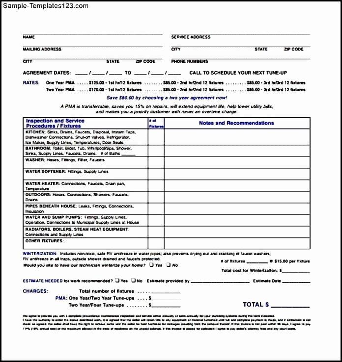 Plumbers Report Template Inspirational Sample Plumbing Invoice Template and Plumbing Invoice