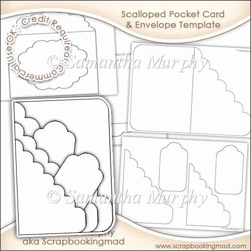 Pocket Envelope Template Best Of Scalloped Pocket Card & Envelope Template Mercial Use