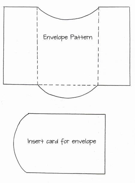 Pocket Envelope Template Inspirational Envelope and Card Insert Template