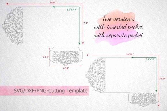 Pocket Envelope Template Luxury Tri Fold Wedding Invitation Pocket Envelope Svg Template