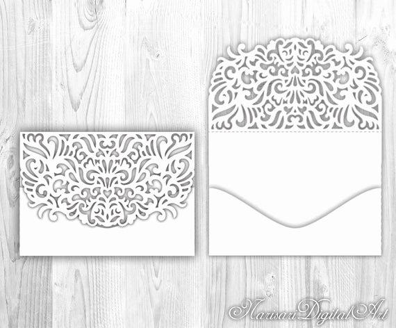 Pocket Envelope Template Luxury Wedding Invitation Pocket Envelope 5x7 Cricut Silhouette