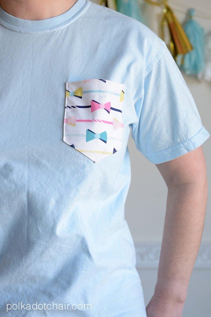 Pocket Shirt Template Best Of Diy Embellished Pocket Tees Tutorial