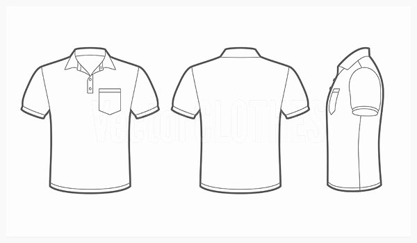 Pocket Shirt Template Lovely Vectorclothes Polo Shirt with Pocket