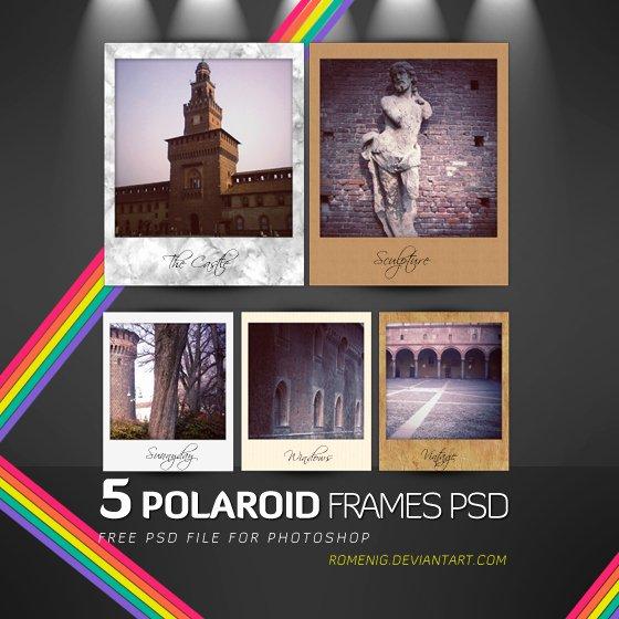 Polaroid Frame Psd Awesome Efeito Shop Free Polaroid Frames Psd